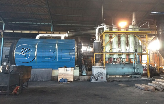Beston Tire to Oil Machine for Sale Installed in Indonesia