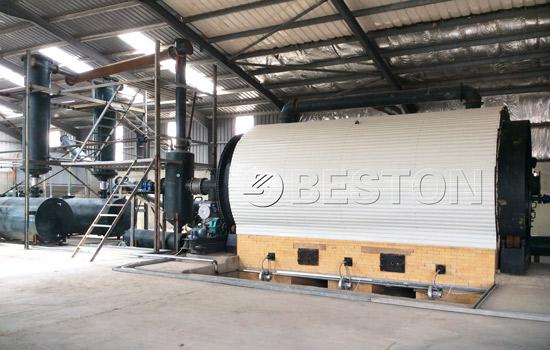 Beston Waste Tyre to Oil Plant for Sale Installed in Jordan