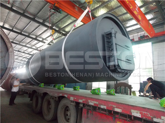 BLJ-10 Tire Pyrolysis Machine to South Africa